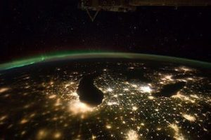 Lights of Michigan from space