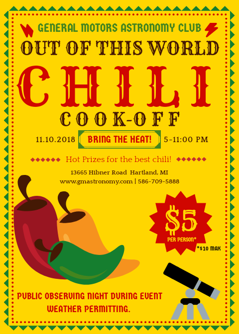 2018 Chili Cookoff Flyer
